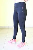 Женские спортивные лосины Reebok (3476-1) черные код 0160 Б