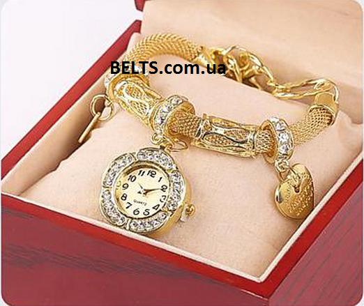 Часы браслет Пандора золотые, женские наручные часы с браслетом Pandora -  Lady-sport в 5ae34433fe1