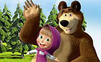 """Картинка вафельная А4 """"Маша и Медведь 2"""""""