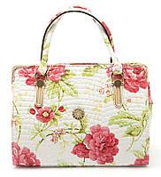 Женская сумочка с оригинальным принтом Б/Н art. 8817 белый лак, фото 1