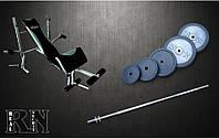 Скамья для жима EverTop 307 с набором RN 115 кг