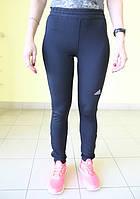 Женские спортивные  лосины ADIDAS (0711) тёмно-серые код 0163 Б