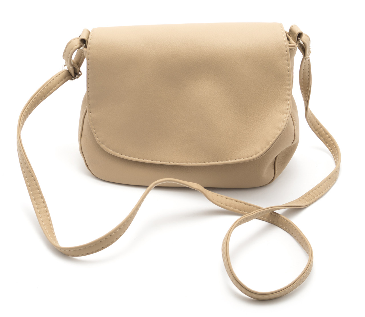 cbfb07967bf2 Аккуратная женская бежевая сумка почтальонка Габриэлла art. Sg Украина  (100086) - Ремешок и