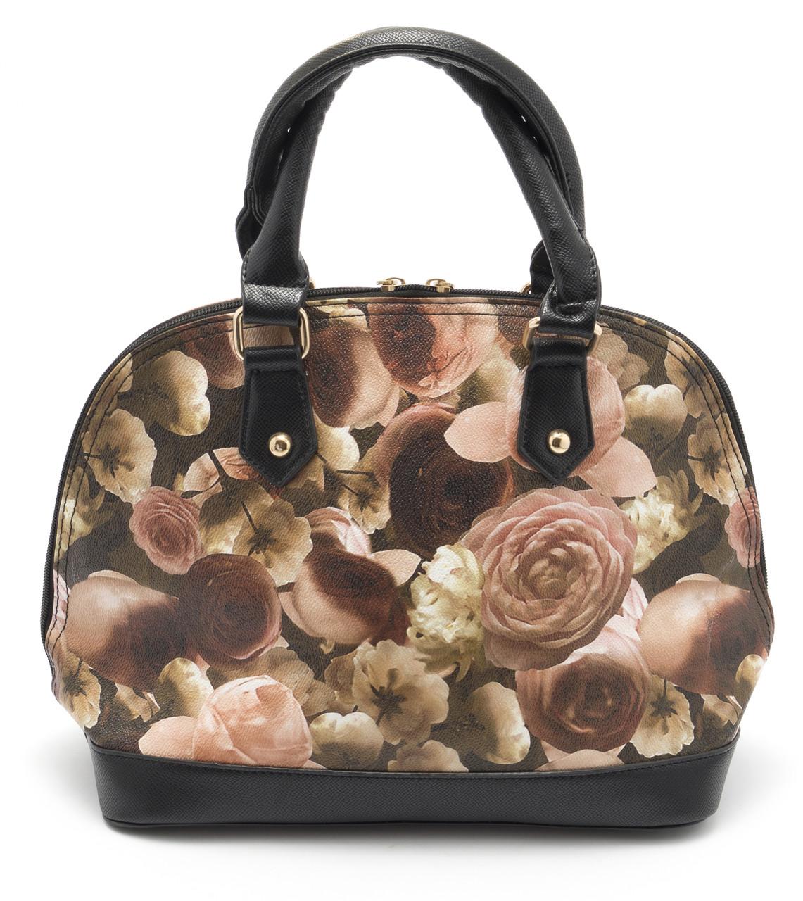 Стильная женская сумка с цветочным принтом Б/Н art. 1359-1 светлая