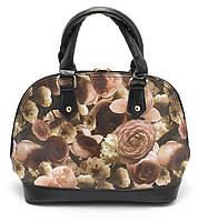 Стильная женская сумка с цветочным принтом Б/Н art. 1359-1 светлая, фото 1