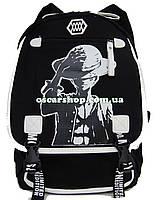 Женская сумка-портфель. Городской модный рюкзак с принтом. Школьный рюкзак. СР8