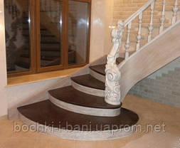 Элементы лестниц. Ступени из массива., фото 2