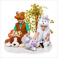 Детский карнавальный костюм для девочки Зайка, фото 1