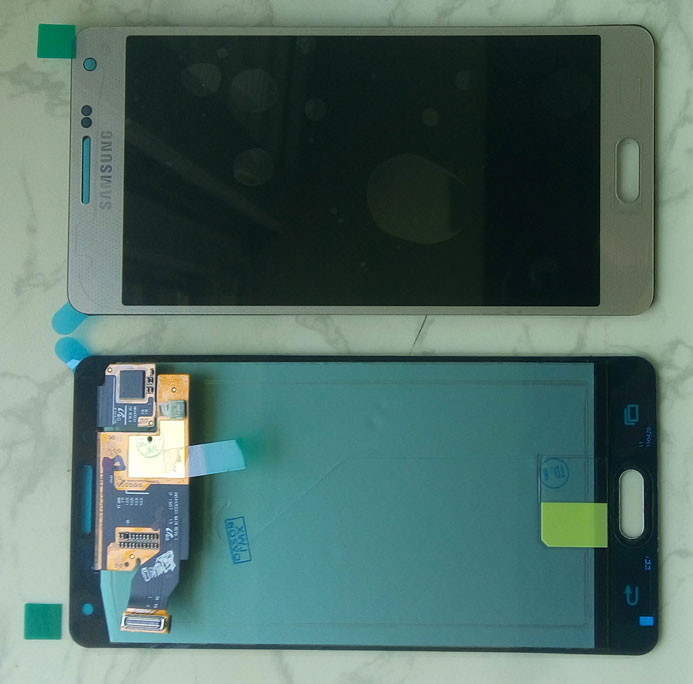 Дисплей модуль Samsung A500 Galaxy A5 в зборі з тачскріном, золотистий