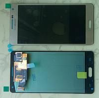 Samsung A500 Galaxy A5 дисплей LCD + тачскрін сенсор оригінальний голд