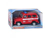 Реалистичный игрушечный УАЗ «Пожарная охрана» JT 9076Е/9067Е, 18,5 см