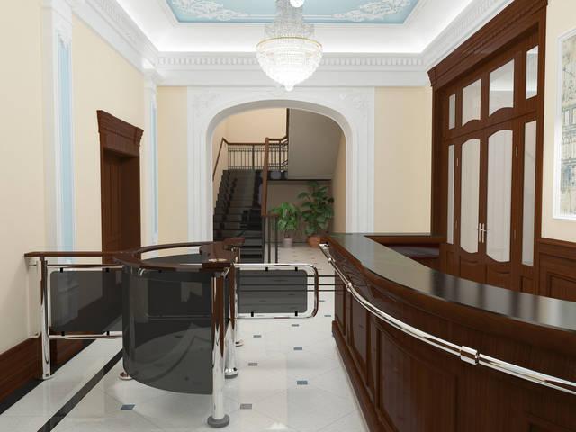 Хол в классическом стиле общественного здания
