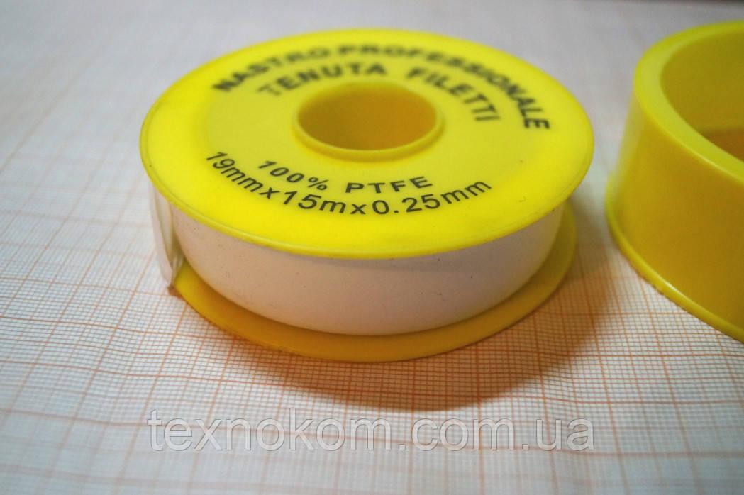 ФУМ-лента, Фторопластовый уплотнительный материал 19mmx15mx0.25mm