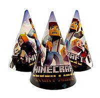 """Колпачки бумажные """"Minecraft 2"""".  Размер: 16см."""