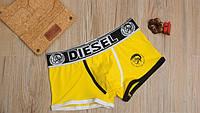 Мужские трусы боксёры Diesel, желтые, фото 1