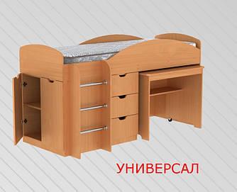 Детская кровать УНИВЕРСАЛ (двухъярусная) Компанит