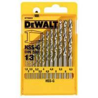Набор сверл по металлу Dewalt HSS-G 13шт, d=1,5-6,5мм.