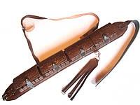 Патронташ кожаный закрытый на 24 патр.(12,16к)