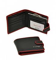 Женский кошелек Alessandro Paoli WS-516 черный из натуральной кожи с внутренней монетницей на защелке