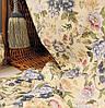 Ткань для штор Элен цветы (синий)