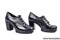 Туфли женские кожаные Phany (ботильоны низкие, внутри кожа)