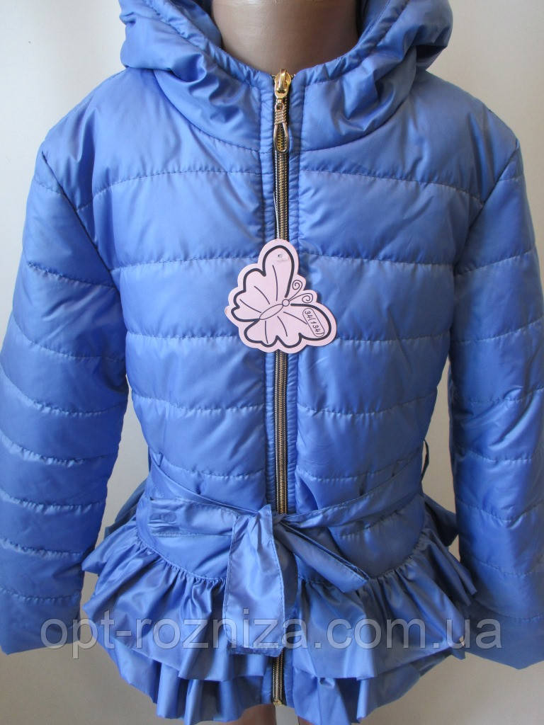 Однотонные куртки для девочек