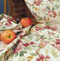 Ткань для штор Элен цветы (бордо)