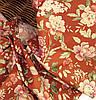 Ткань для штор Элен цветы (терракот)
