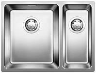 Кухонная мойка Blanco ANDANO 340/180-IF сталь нерж. (слева) с клапаном (518324)