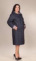 Пальто-плащ женское П-62 синий
