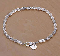 Браслет покрытие стерлинговое серебро код 941