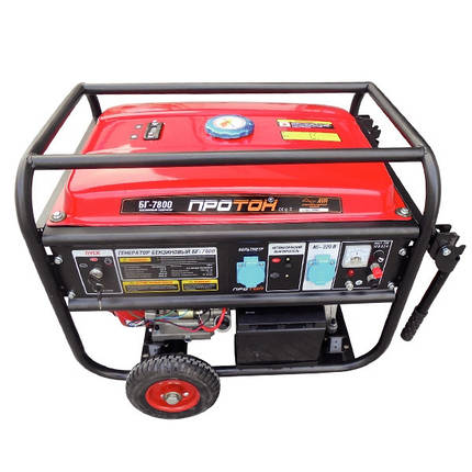 Бензиновый генератор Протон БГ-7800 , фото 2