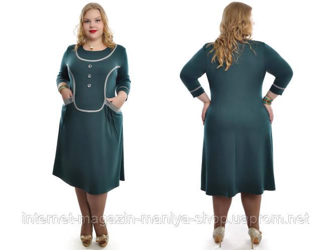 Платье женское с карманами батал