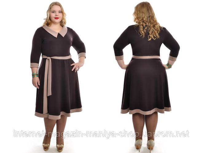 Платье женское батал с поясм