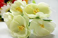 Декоративные цветы пиона молочные 3.5-4см уп/3 цветка
