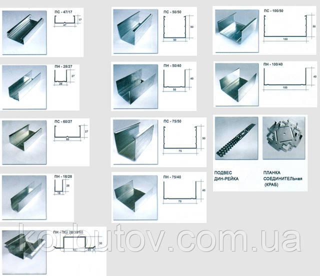 Профиль UW-50 (0,55 mm) (3м,4м)  Украина