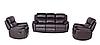 """Кожаный диван с креслом  """"ALABAMA BIS"""", фото 2"""