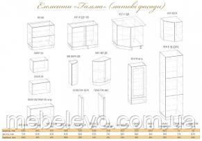 купить кухня гамма матовая 2м со столешницей серый мебель сервис в