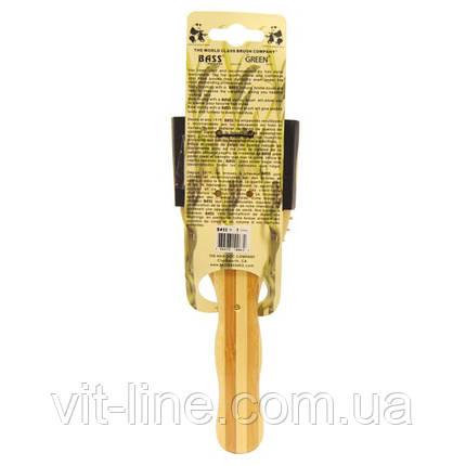 Щетка для волос Bass Brushes, Большая овальная  с деревянной щетиной и бамбуковой ручкой, фото 2