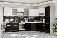 Кухня Кармен 2м со столешницей белый + красный   Мебель-Сервис