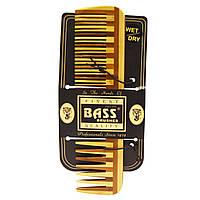 Большой деревянный гребень от Bass Brushes , комбинация с редкими/частыми зубьями