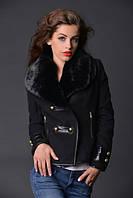 Куртка милитари с сьёмным мехом чёрная