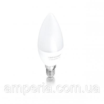 Евросвет Лампа светодиодная свеча С-6-4200-14