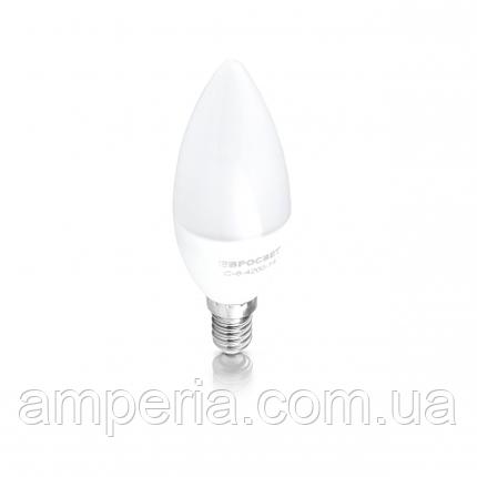 Евросвет Лампа светодиодная свеча С-6-4200-14, фото 2