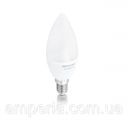 Евросвет Лампа светодиодная свеча С-4-4200-14
