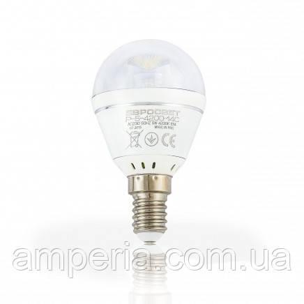 Евросвет Лампа светодиодная Р-5-4200-14С