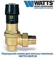 """Перепускной клапан для систем отопления WATTS USVR  3/4"""" , фото 1"""