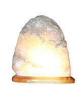 """Соляной светильник """"Скала"""" 3-4кг с цветной лампочкой"""
