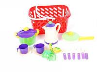 Kinderway посуда в корзинке 04-436