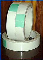 Скотч двосторонній, внутрішній на паперовій основі 19мм х 10м х 90мкм, фото 1